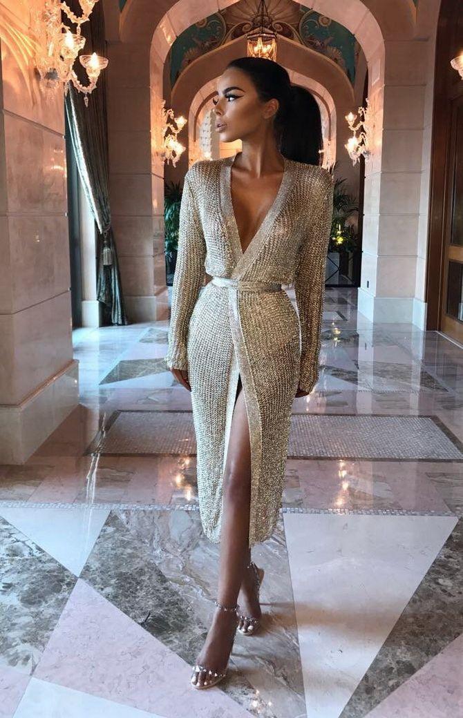 Трикотажные платья 2021-2022: удобство на любой сезон 29