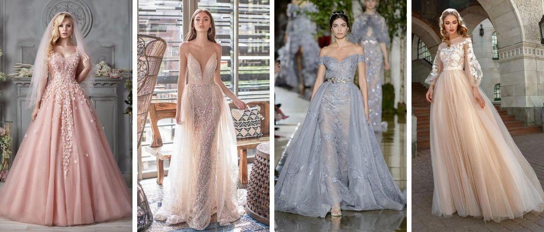 Цвета свадебных платьев 2021: основные тренды