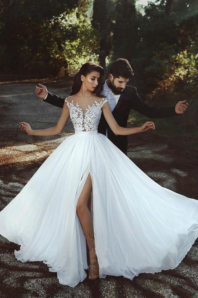 Цвета свадебных платьев 2021: основные тренды 7