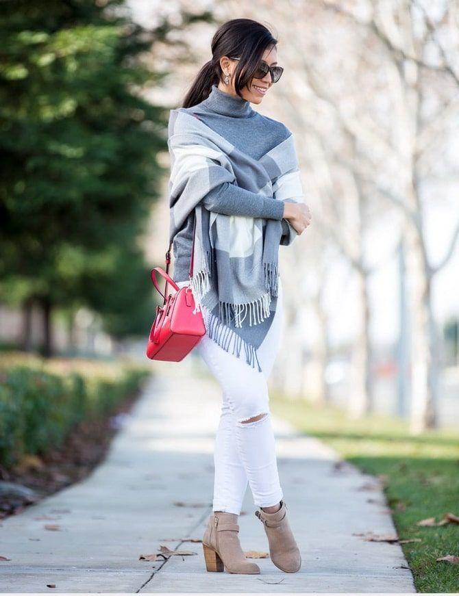 Как носить белые джинсы: создаем уютные осенние луки 2