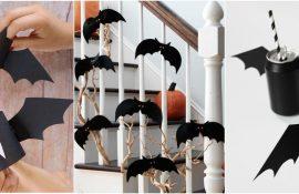 Летучая мышь на Хэллоуин: как сделать оригинальный декор своими руками