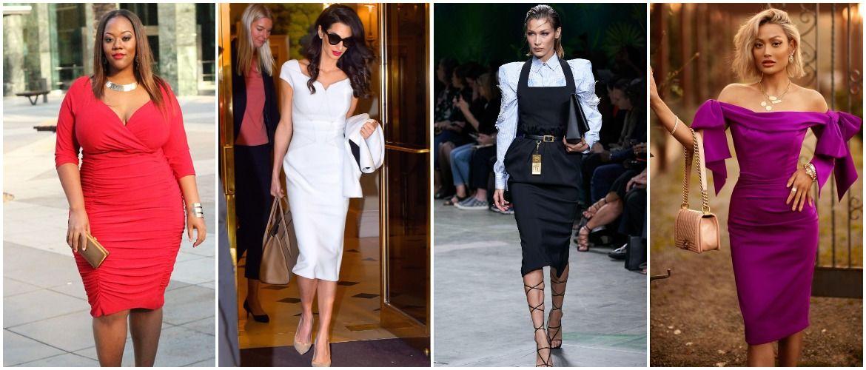 Платье-футляр – элегантная классика в женской моде 2020-2021 года