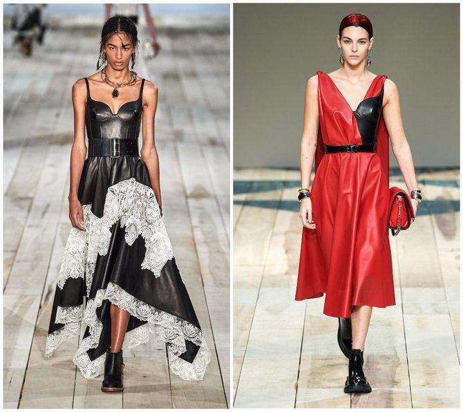 Кожаное платье: самая модная тенденция 2020-2021 года 1