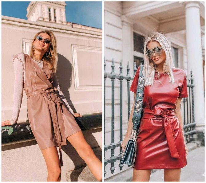 Кожаное платье: самая модная тенденция 2020-2021 года 10