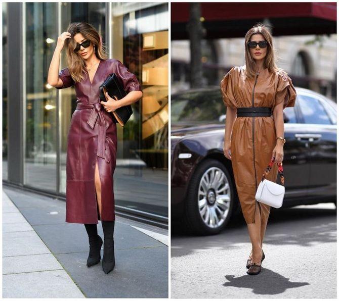 Кожаное платье: самая модная тенденция 2020-2021 года 12