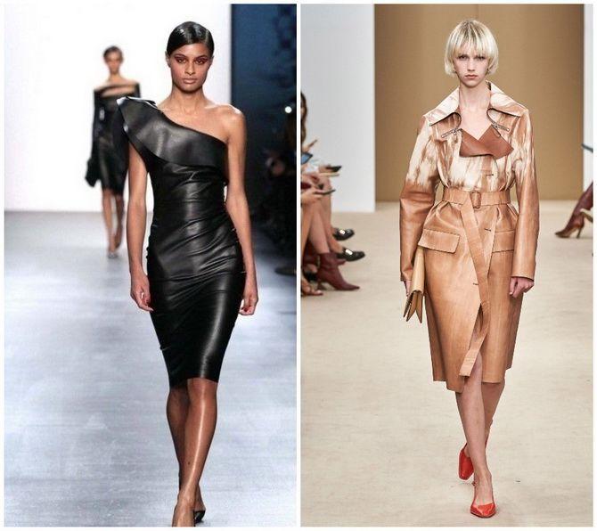 Кожаное платье: самая модная тенденция 2020-2021 года 13