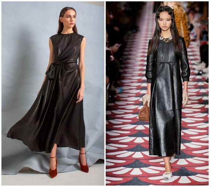Кожаное платье: самая модная тенденция 2020-2021 года 15
