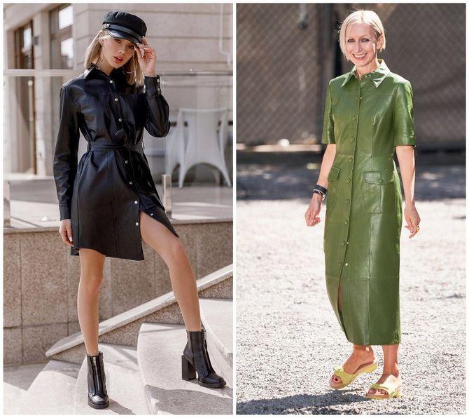 Кожаное платье: самая модная тенденция 2020-2021 года 17