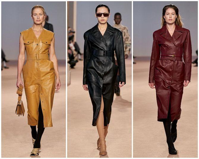 Кожаное платье: самая модная тенденция 2020-2021 года 19
