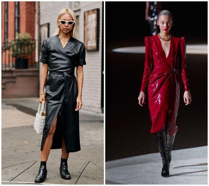 Кожаное платье: самая модная тенденция 2020-2021 года 22