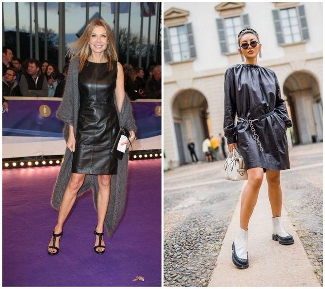 Кожаное платье: самая модная тенденция 2020-2021 года 23