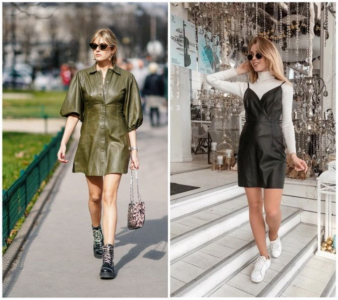 Кожаное платье: самая модная тенденция 2020-2021 года 24