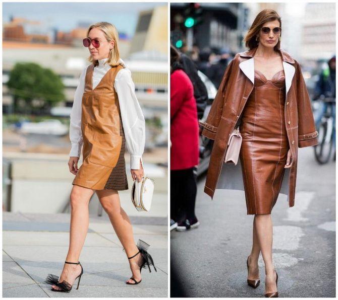Кожаное платье: самая модная тенденция 2020-2021 года 25