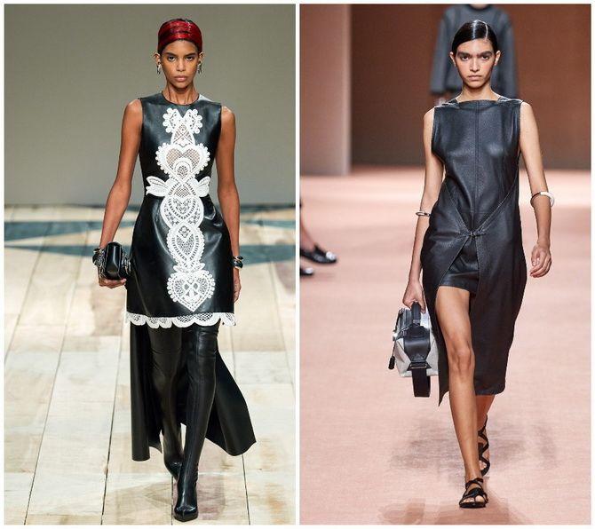 Кожаное платье: самая модная тенденция 2020-2021 года 3