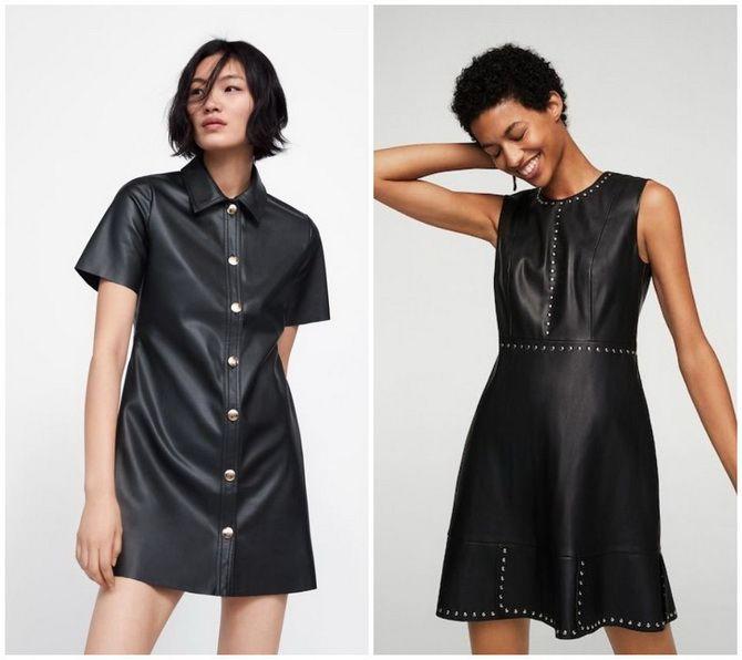 Кожаное платье: самая модная тенденция 2020-2021 года 5