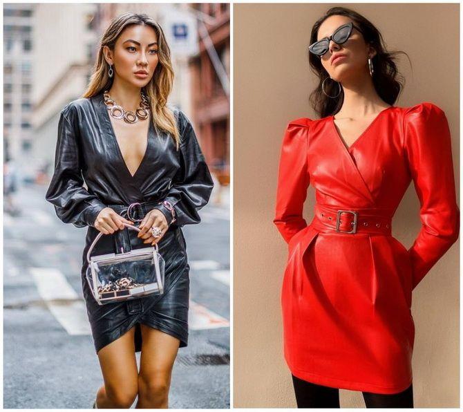 Кожаное платье: самая модная тенденция 2020-2021 года 9