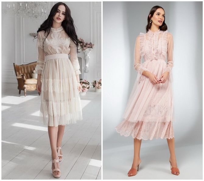 Кружевные платья: самый женственный тренд 2020-2021 года 10