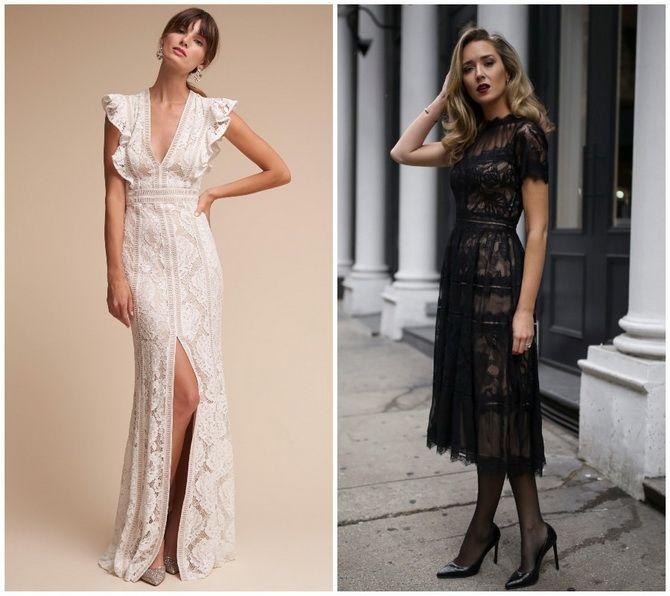 Кружевные платья: самый женственный тренд 2020-2021 года 13