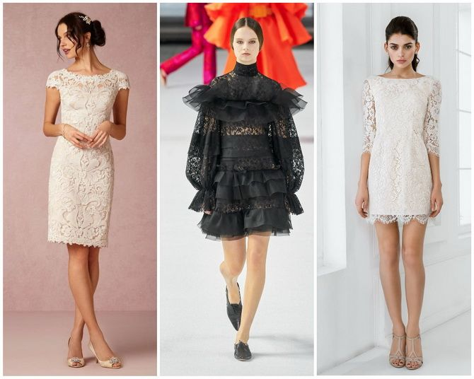 Кружевные платья: самый женственный тренд 2020-2021 года 5