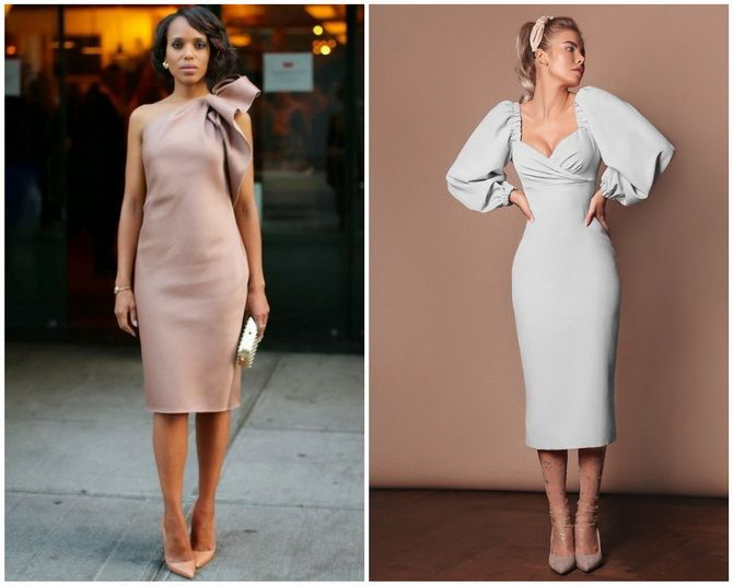 Платье-футляр – элегантная классика в женской моде 2020-2021 года 12