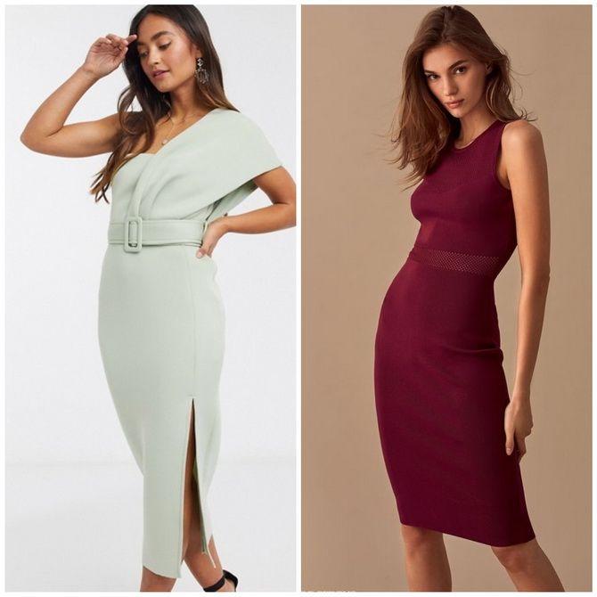 Платье-футляр – элегантная классика в женской моде 2020-2021 года 17