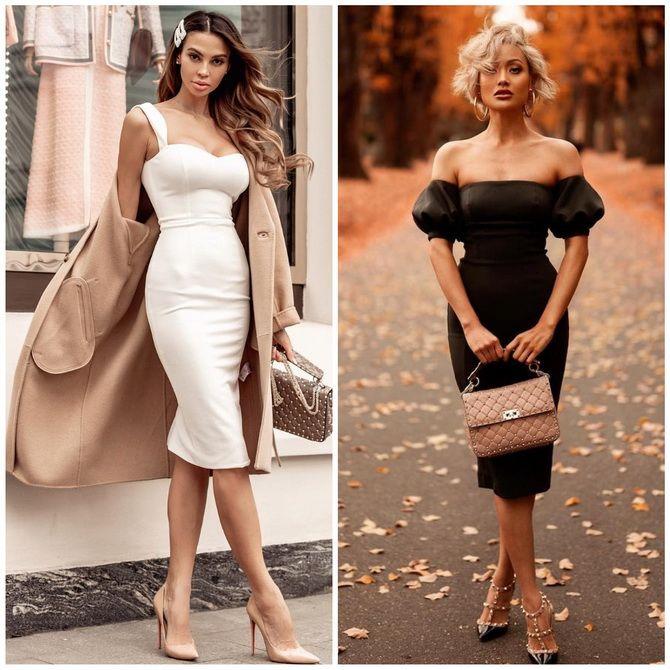 Платье-футляр – элегантная классика в женской моде 2020-2021 года 24
