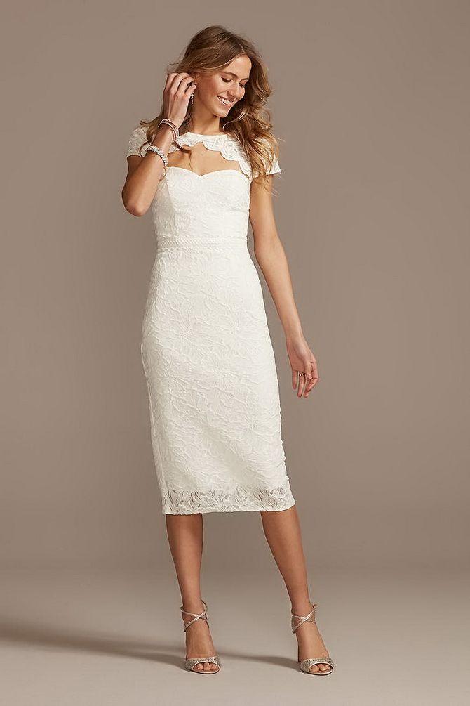 Платье-футляр – элегантная классика в женской моде 2020-2021 года 27