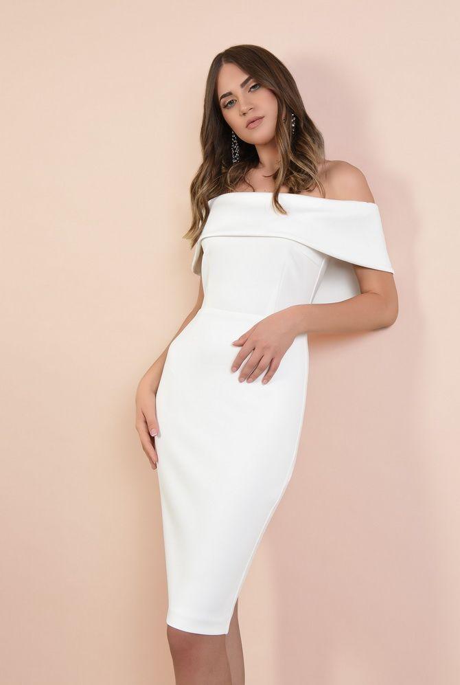 Платье-футляр – элегантная классика в женской моде 2020-2021 года 28