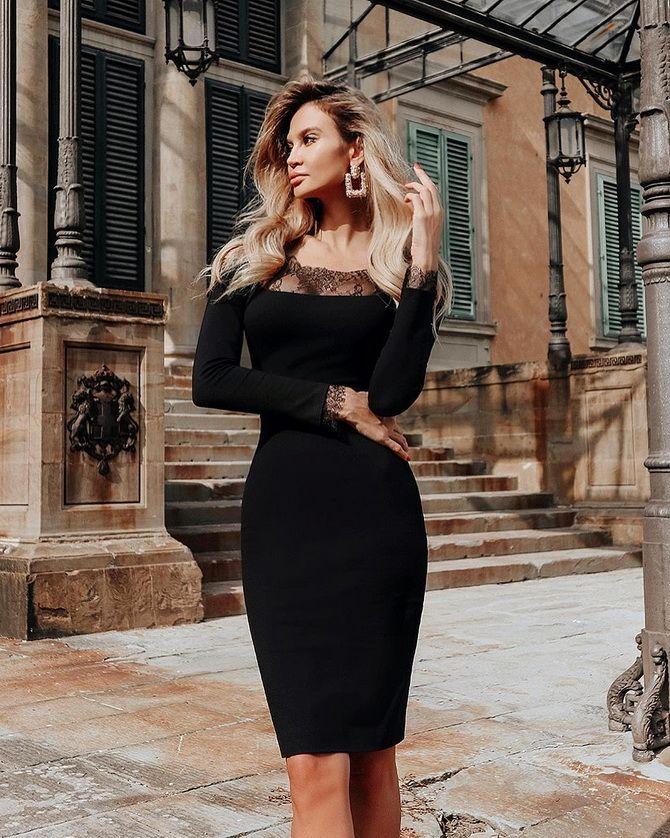 Платье-футляр – элегантная классика в женской моде 2020-2021 года 4