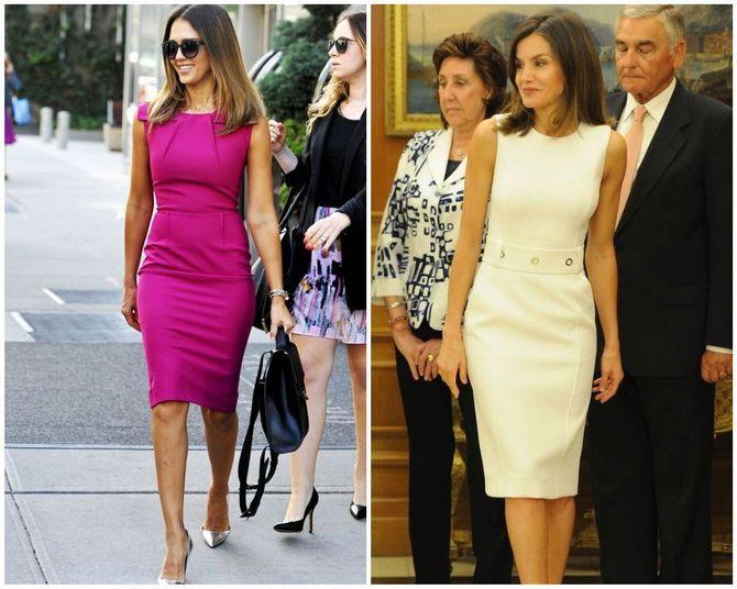 Платье-футляр – элегантная классика в женской моде 2020-2021 года 7