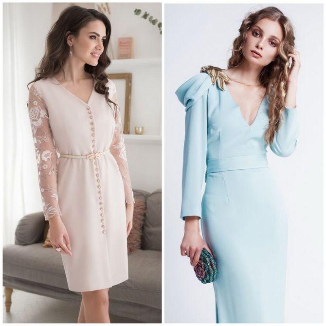 Платье-футляр – элегантная классика в женской моде 2020-2021 года 9