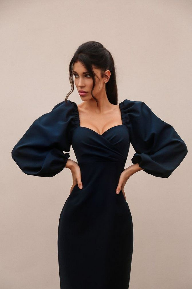 Платье-футляр – элегантная классика в женской моде 2020-2021 года 10