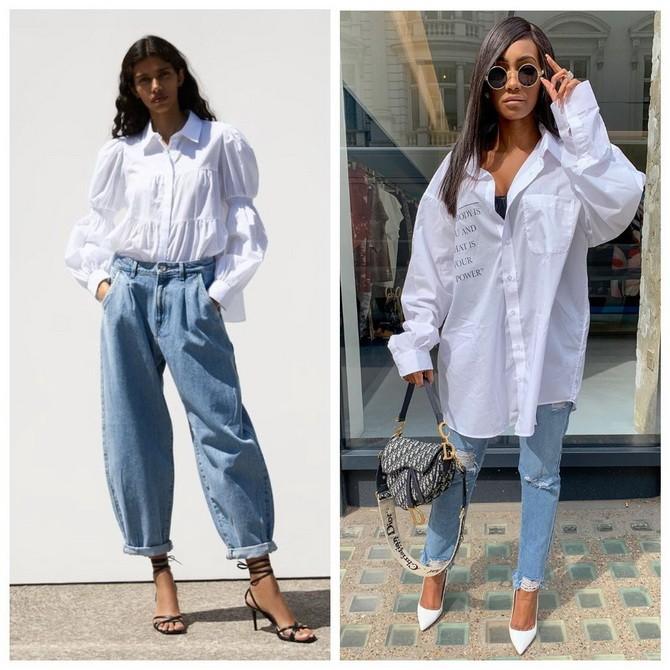 Идеи образов с голубыми джинсами, которые не выйдут из моды 6