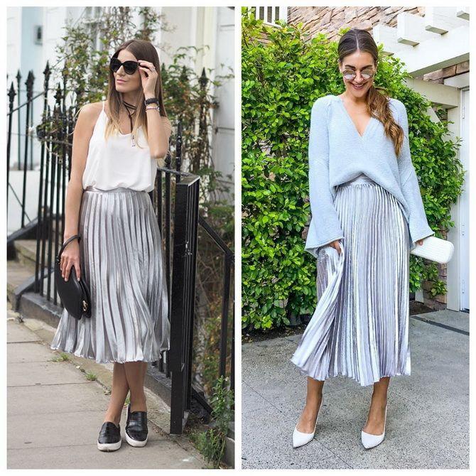 З чим носити сріблясту спідницю – актуальний тренд осені 22