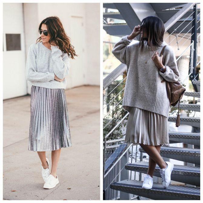 З чим носити сріблясту спідницю – актуальний тренд осені 23