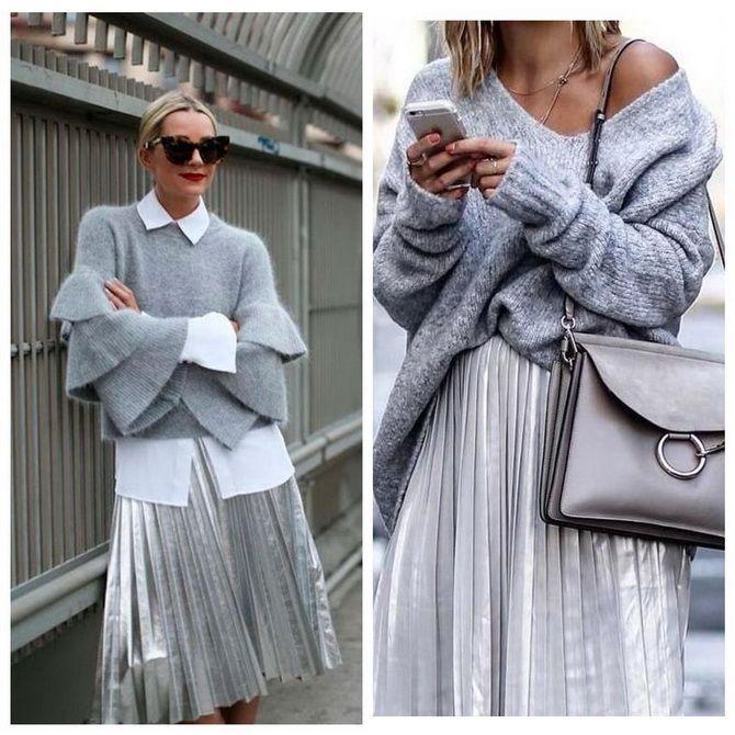 З чим носити сріблясту спідницю – актуальний тренд осені 24