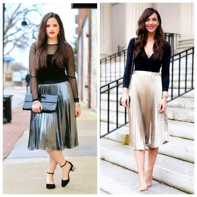 З чим носити сріблясту спідницю – актуальний тренд осені 14