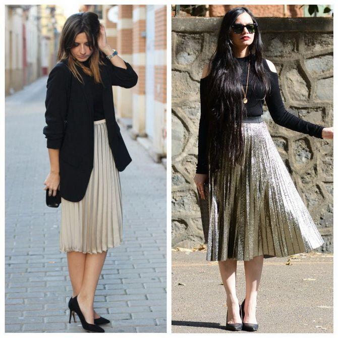 З чим носити сріблясту спідницю – актуальний тренд осені 16