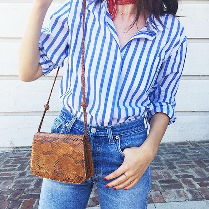 Сорочка в смужку: актуальні модні образи 12