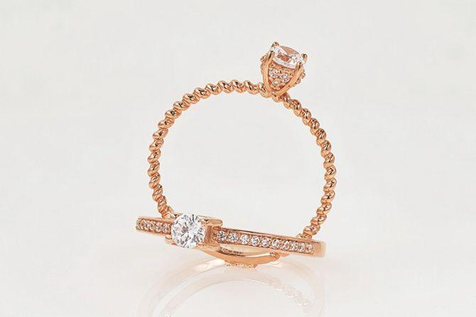 Как носить золотые кольца с бриллиантом: 5 советов на каждый день 3