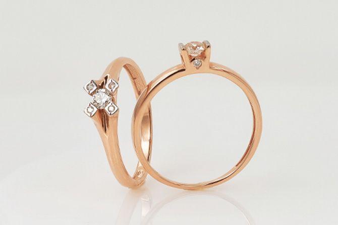 Как носить золотые кольца с бриллиантом: 5 советов на каждый день 1