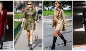 Кожаное платье: самая модная тенденция 2020-2021 года
