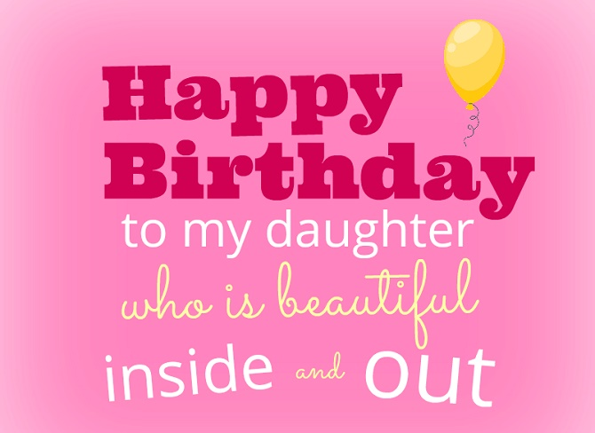 Touching Happy Birthday greetings to a daughter in verse and prose on cards 1