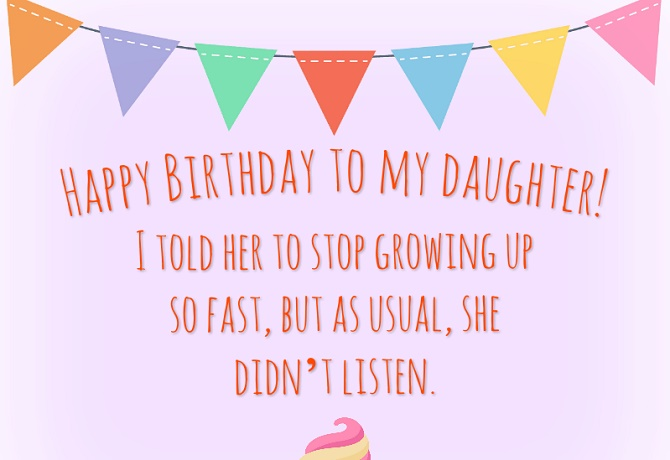 Touching Happy Birthday greetings to a daughter in verse and prose on cards 2