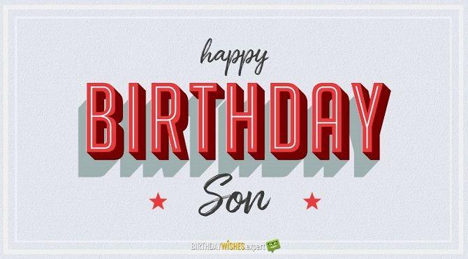 Поздравление с Днем рождения сына в стихах 1