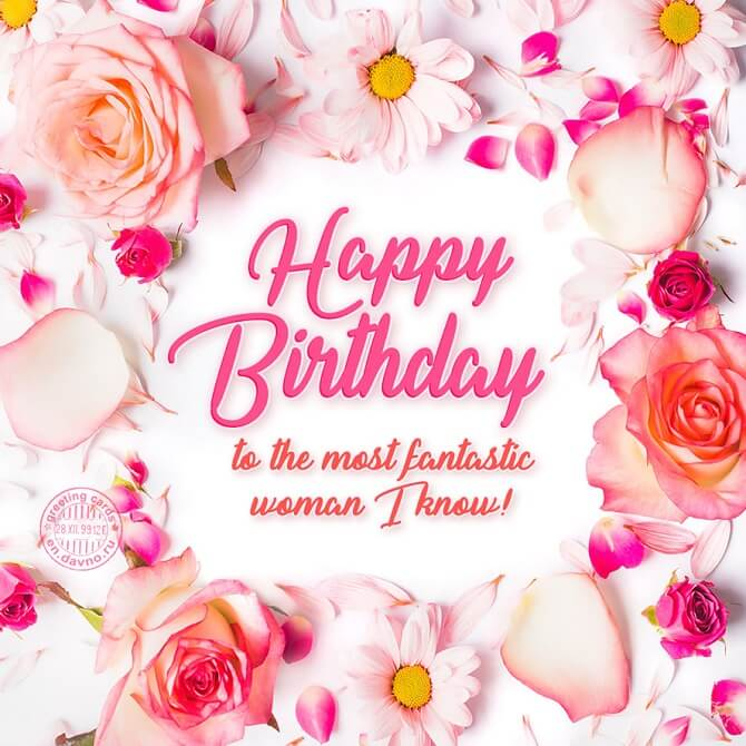 Beautiful images of happy birthday wishes to a woman 17