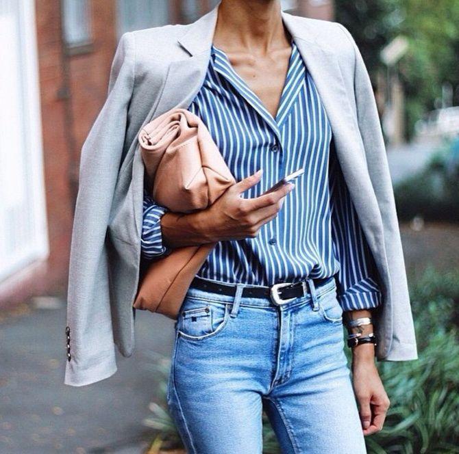 Сорочка в смужку: актуальні модні образи 13