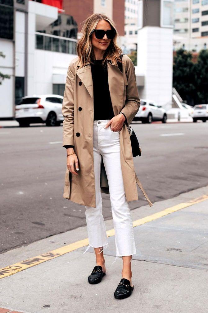 Как носить белые джинсы: создаем уютные осенние луки 3