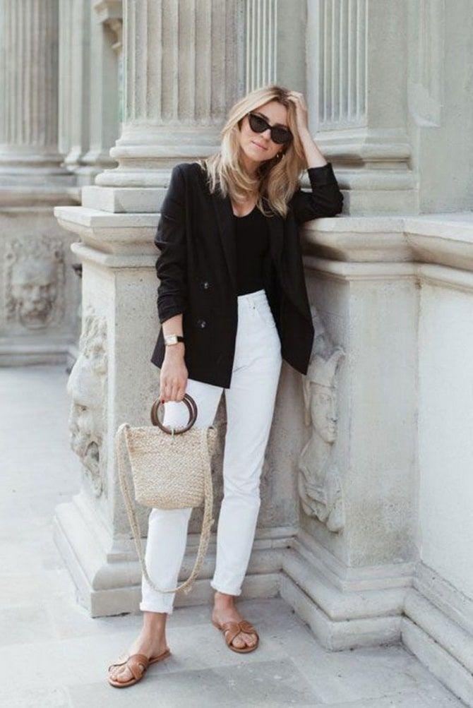 Как носить белые джинсы: создаем уютные осенние луки 17