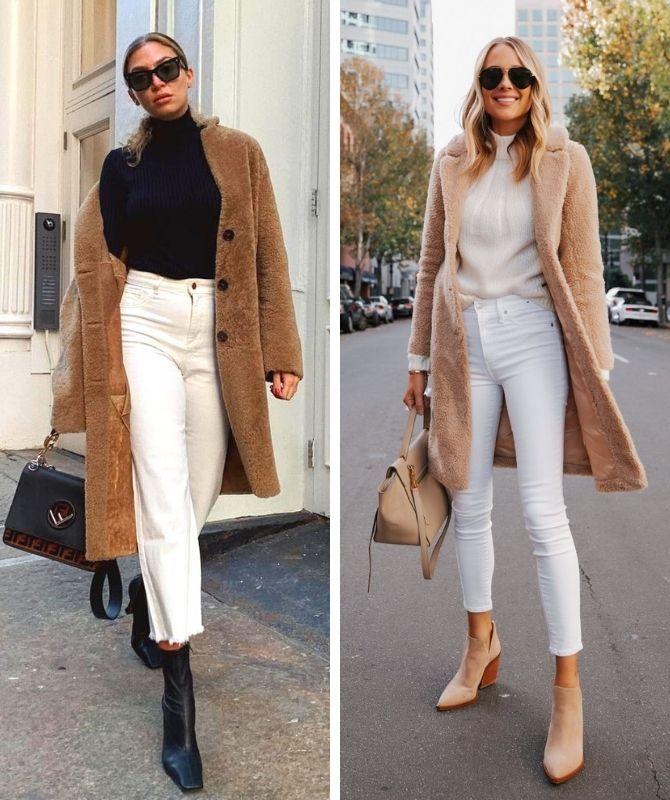 Как носить белые джинсы: создаем уютные осенние луки 7